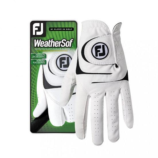 Footjoy WeatherSof glove men white