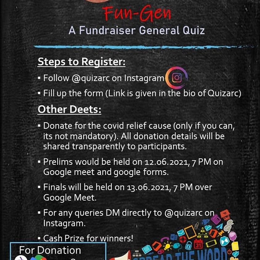 Fun-Gen The fundraiser general Quiz | By Quizarc
