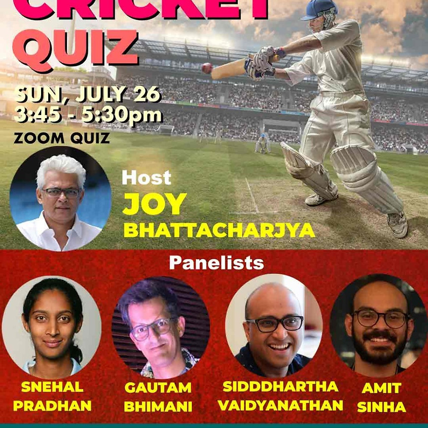 Ultimate Cricket Quiz By Joy Bhattacharjya