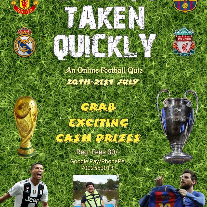 Corona Taken Quickly - An Online Football Quiz