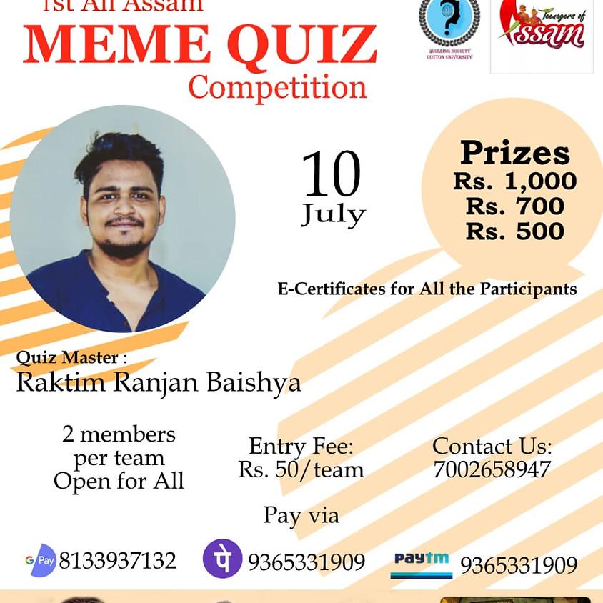Meme Quiz | By Raktim Ranjan Baishya
