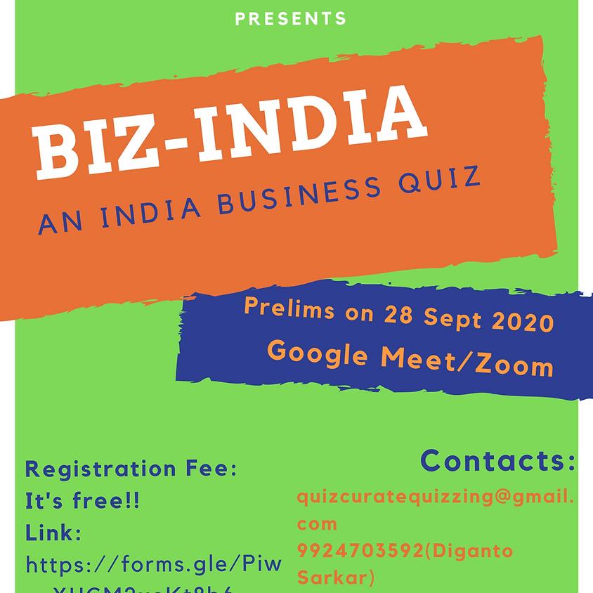 Biz India Quiz    By Diganto Sarkar/Quizcurate