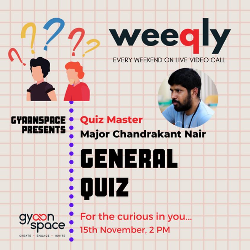General Quiz by Major Chandrakant Nair