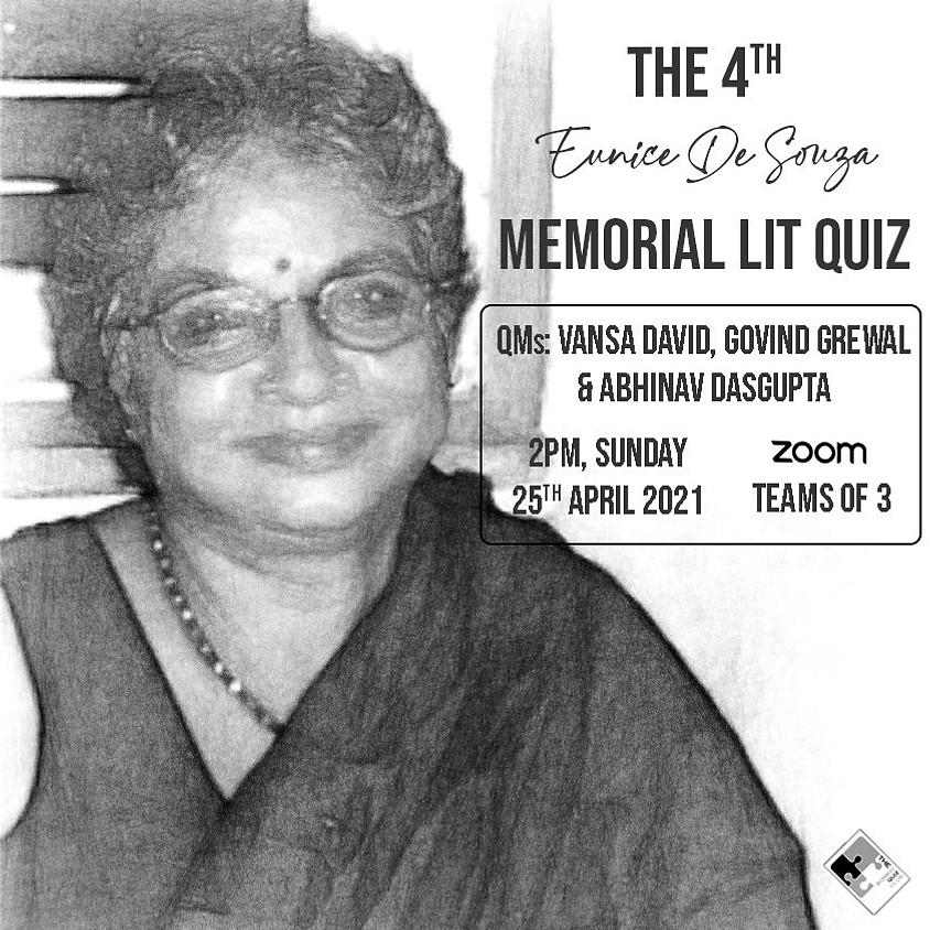 Eunice De Souza Memorial Literature Quiz | Bombay Quiz Club (Vansa David / Govind Grewal / Abhinav Dasgupta)
