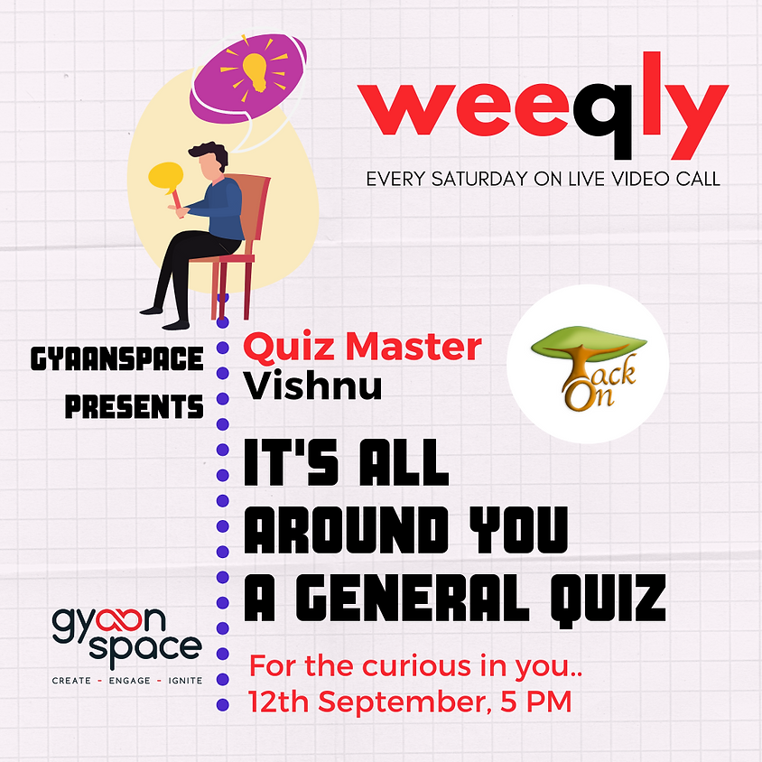 It's All Around You!   General Quiz By TackOn & Gyaanspace