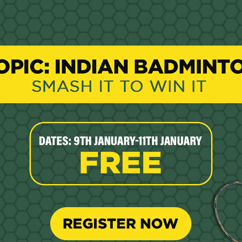 Indian Badminton Quiz (Entry free) by The Bridge & Gyaanspace