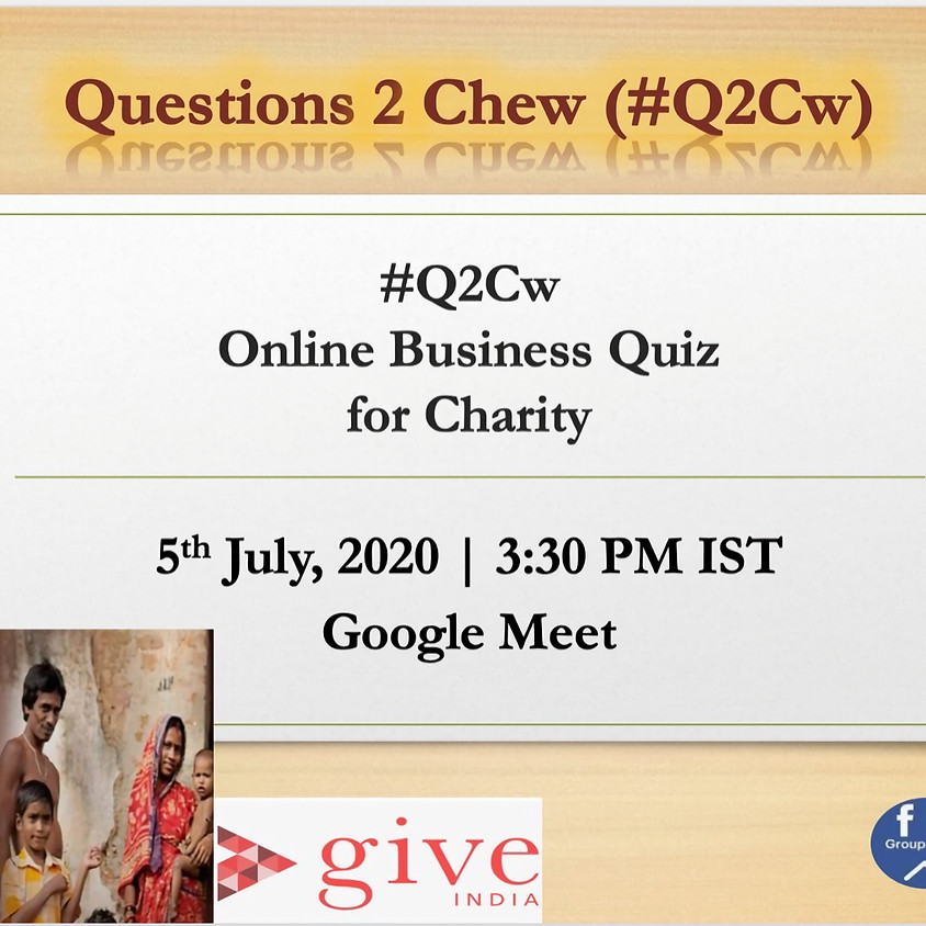 Business Quiz for Charity | Aniruddha Dutta and Souvik Basu