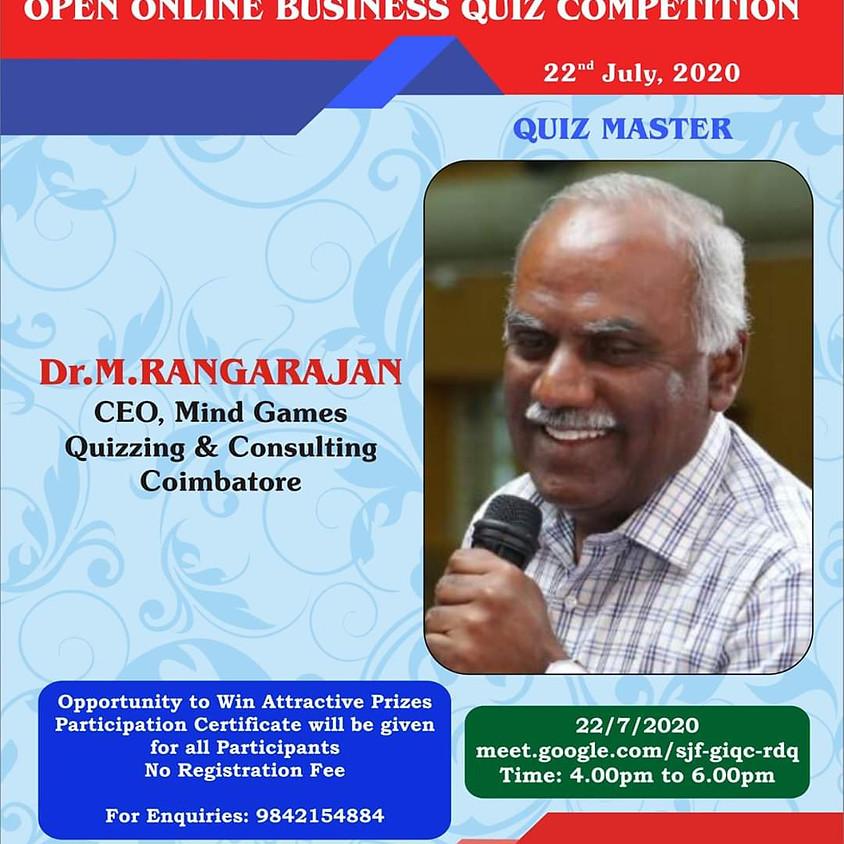 Master Mind 2020   Business Quiz   By M Rangarajan