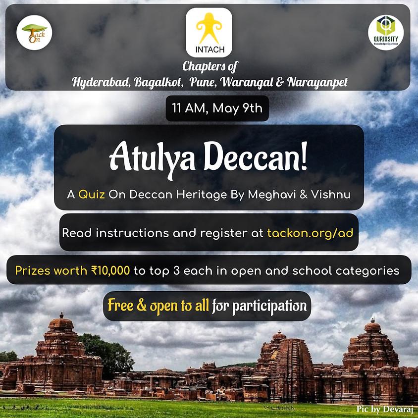 Atulya Deccan - A Quiz On Deccan Heritage   INTACH