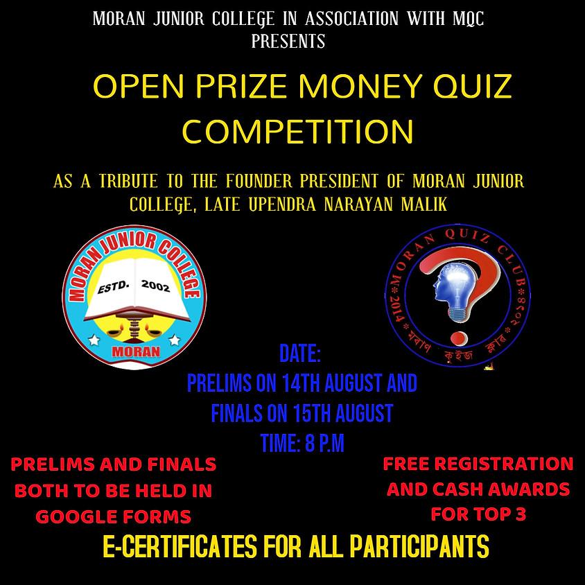 Open Prize Money Quiz Competition