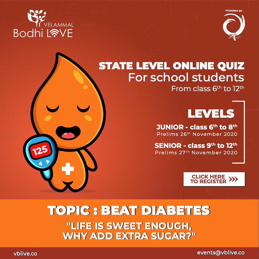 Beat Diabetes - State Level Online Quiz