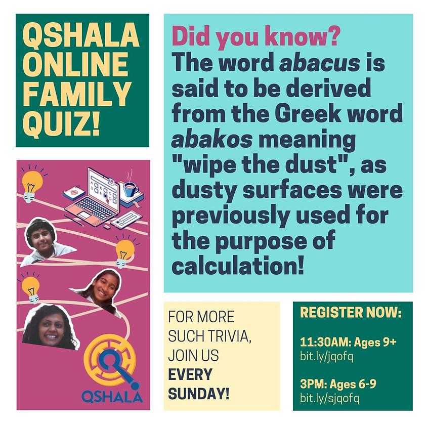 QShala Online Family Quiz | Grade 1 to 3