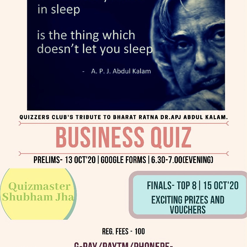 India, SciTech, and Business Quizzes By Shubham Jha