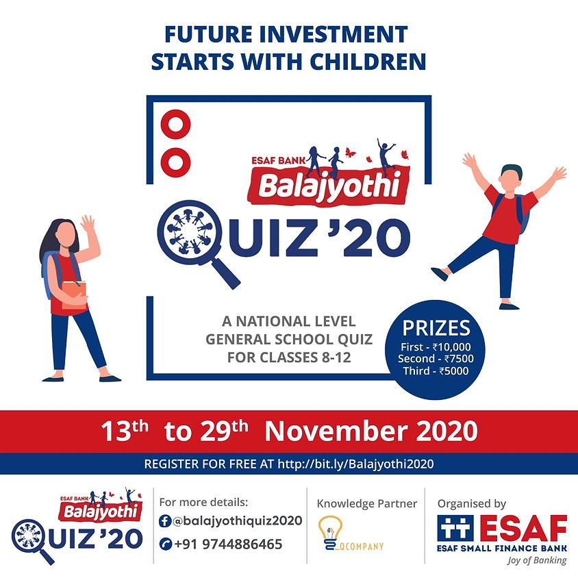 ESAF Bank Balajyothi Quiz 2020