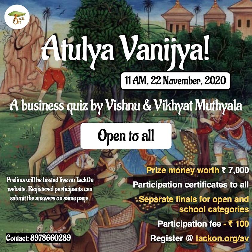 Atulya Vanijya - Business Quiz By TackOn