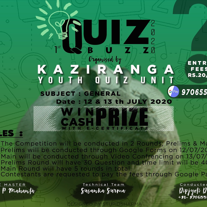Quiz Buzz 1.0   By Kaustav P Mahanta