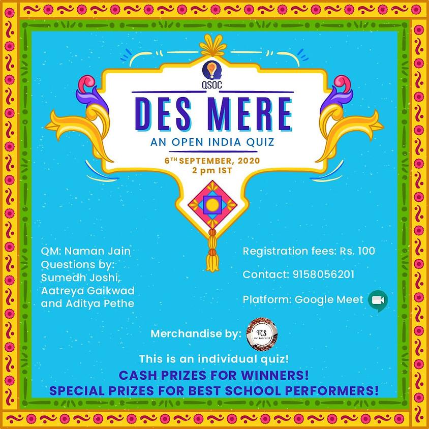 Des Mere- An open India quiz