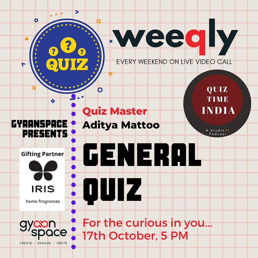General Quiz by Aditya from Quiz Time India Podcast