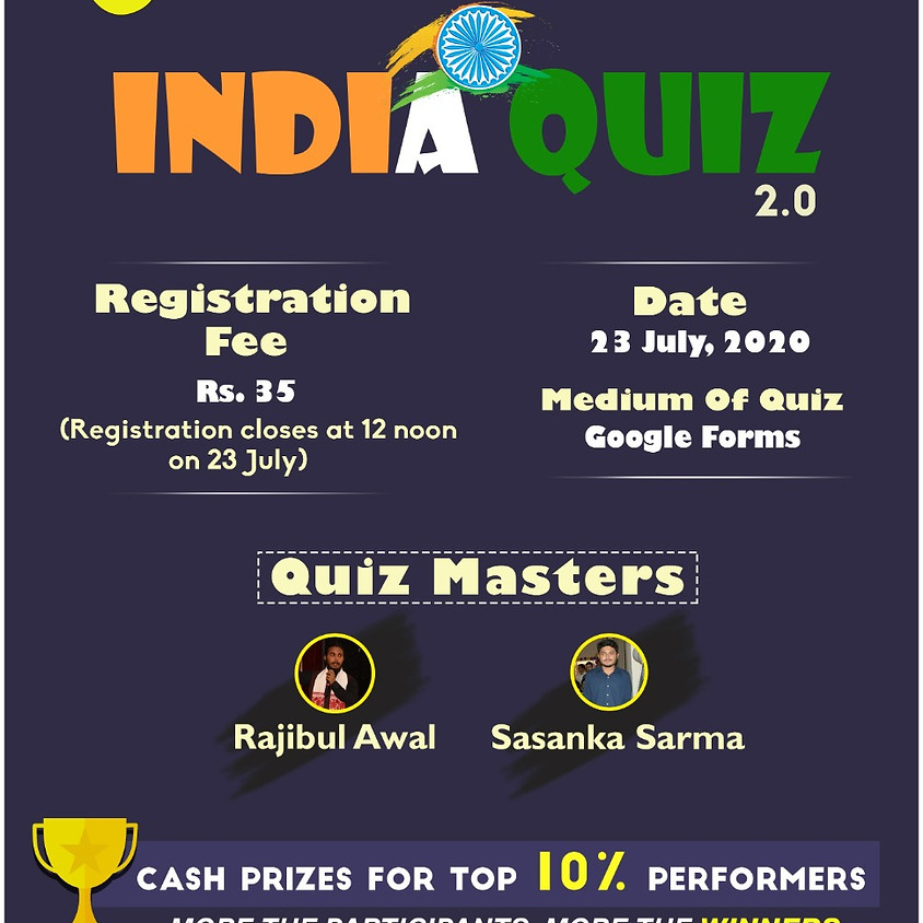 India Quiz 2.0 By Rajibul Awal & Sasanka Sarma