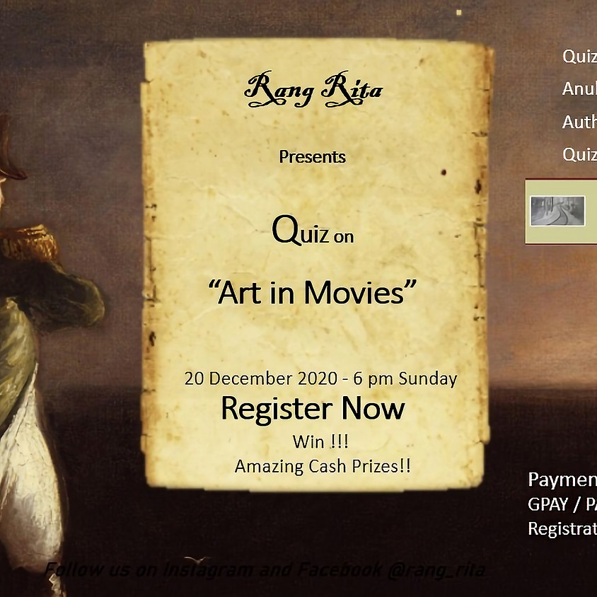 Rang Rita - Quiz on Art in Movies