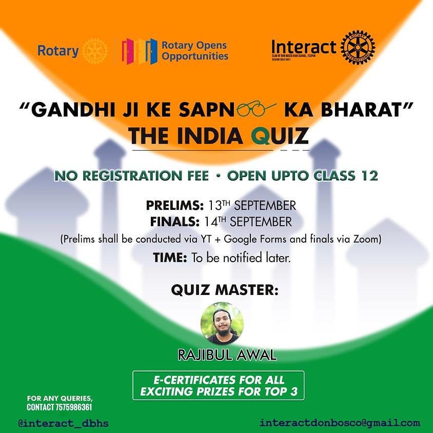 GANDHIJI KE SAPNO KA BHARAT-THE INDIA QUIZ - For Schools