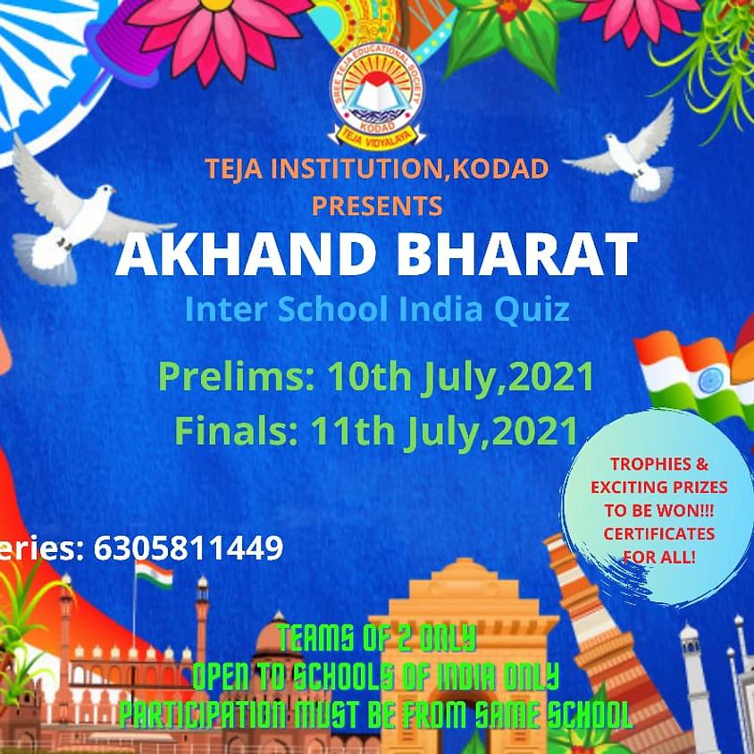 AKHAND BHARAT:INTER SCHOOL INDIA QUIZ
