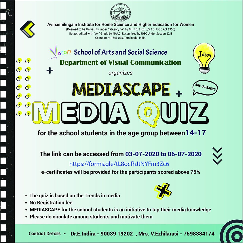 Media Quiz by Media Space   For school students aged 14-17