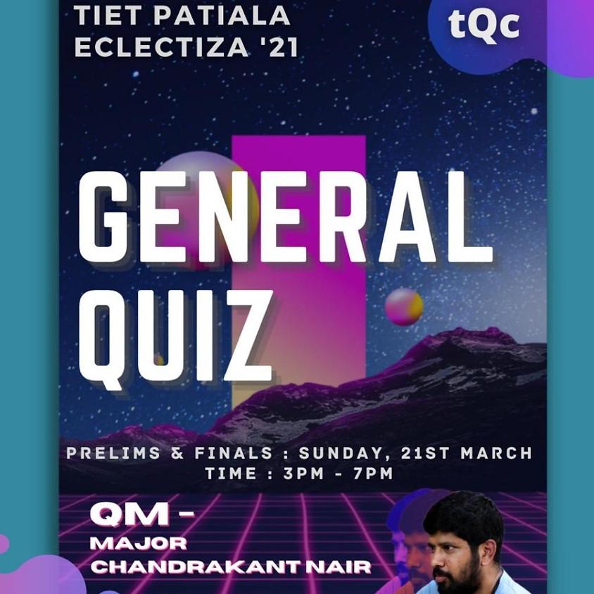 Eclectiza 2021 General Quiz by Major Chandrakant Nair