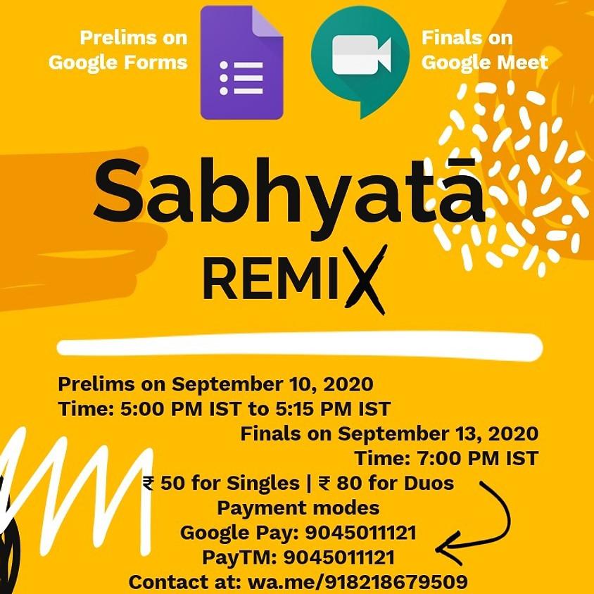 Sabhyatā: REMIX