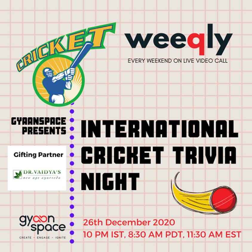 International Cricket Trivia Night