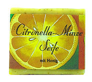 Handgemachte Citronella-Minze-Seife