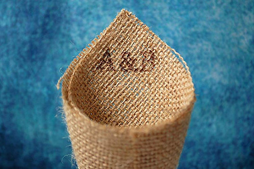 DIY Open Hessian Cone with Your Initials Hand printed On