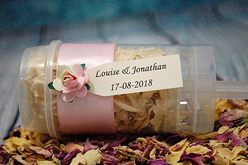 Personalised Confetti Popper Ivory Tag, Biodegradable Wedding Throwing Petals