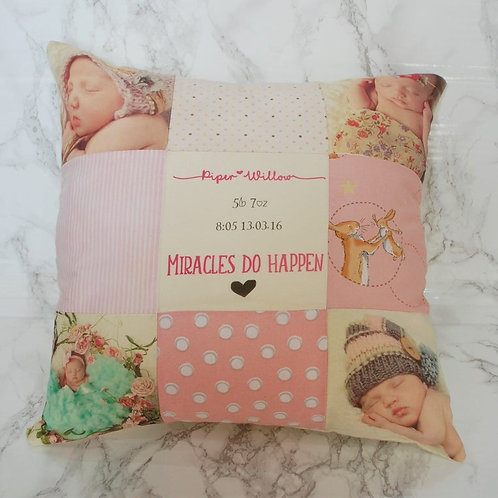 Photo Patchwork Pillow Cushion