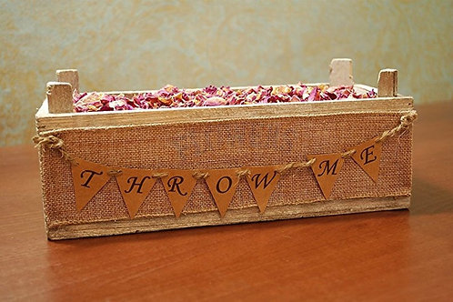 Loose Confetti Wooden Tray, 'Throw Me' Bunting