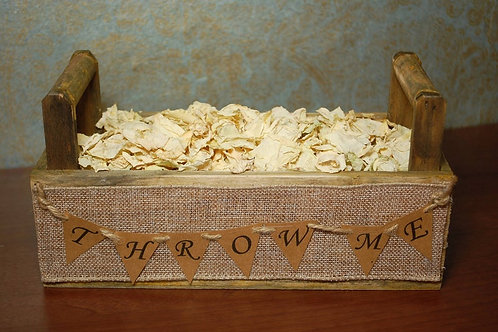 Loose Confetti Wooden Tray,'Throw Me' Bunting