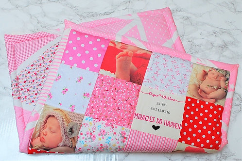 Cotton Patchwork Baby Girl Photo Blanket