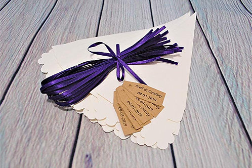 DIY Confetti Cone Package, Complete with Rustic Tags and Ribbon