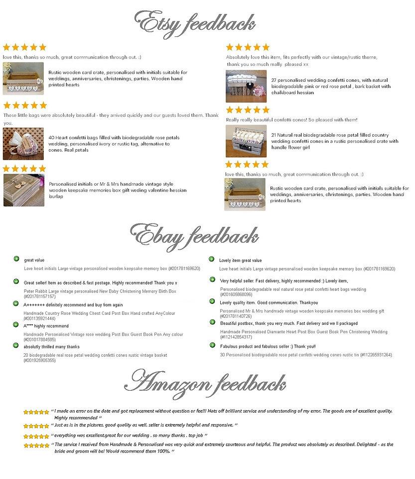 feedback fom etsy