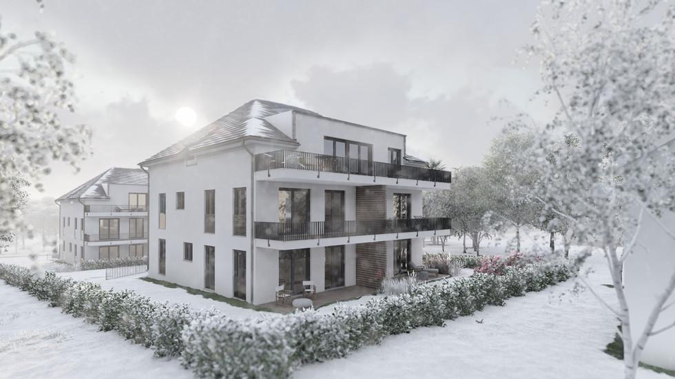 Balkone | Winter bei Tag