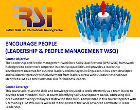 Encourage People (LPM WSQ)