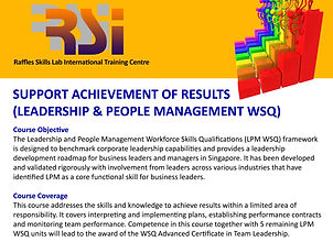 Support Achievement of Results (LPM WSQ)