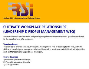 Cultivate Workplace Relationships (LPM WSQ)