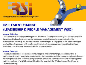 Implement Change (LPM WSQ)