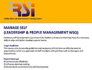 Manage Self (LPM WSQ)