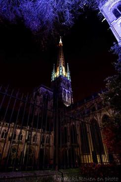 La grande flèche de la cathédrale de Rouen