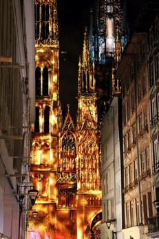 La cathédrale de Rouen illuminée