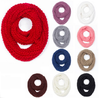 Fall 2018 Cable Knit Scarves