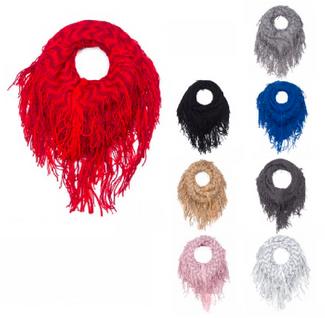 Fall 2018 Fringe Knit Scarves