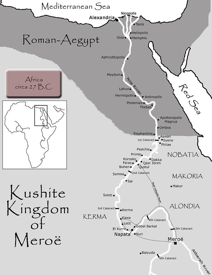 Map of Meroe
